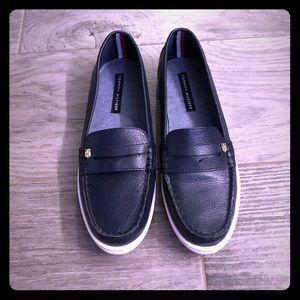 Tommy Hilfiger navy slip on shoes - size 8 NWOT